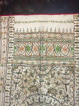 Vintage rogan art wall hanging from nirona village of Kutch district of Gujarat India it is made from linseed oil with natural colours and chalk paste to make these wall hangings this  ...