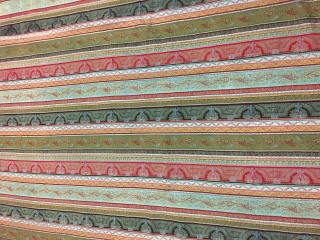 Beautiful vintage striped scottish paisley Shawl half sized but in very good condition the size of the Shawl is 201cm X 113cm