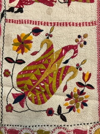 Museum quality kantha from murshidabad district of west bengal India 1900 c.with finest figured work fine colour scheme the kantha is mint condition without any damages or stains the size of the  ...