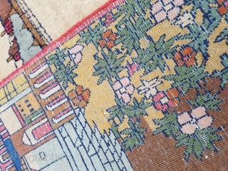 Antique Kashan Mat rug 1920's - 1930's size is 1.6 x 2.8