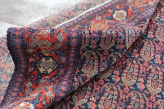 Antique senneh rug.In great condition. Has lots of pile. Nice border and great colors in botehs. Contact for more info.