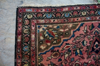 This is a full pile perfect condition antique Farahan Sarouk mat rug measuring 2x2.6 ft in size.  I am open to offers and selling at an extremely reasonable price.  Please contact me for the  ...