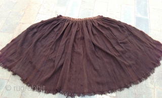 beautiful abrashed natural brown wool cape from the nuosu people- a subbranch of the yi group- northern yunnan, early 20th century. good condition with one old patch and couple of tiny holes.very  ...