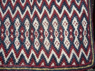antique tibetan split ply textile (not woven on a loom, so it is weftless). these textiles are not really uncommon but it seems that they were never produced in great number. mostly  ...
