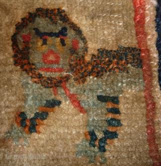 a powerful tibetan saddle rug.