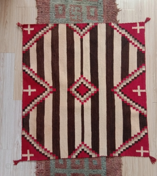 navajo horse blanket , very good condition, one side obviously with a stronger patina