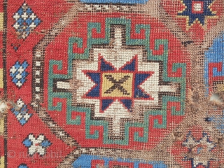 Karabagh Memling gul rug with stunning color! C. 1850-70