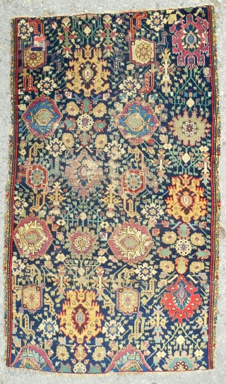 "C. 1800 Classic Karabaugh Harshang design rug (41"" x 70""), Medium, even pile. Great color range. Fantastic drawing! Fine weave."