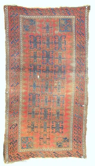 Seljuk inspired Baluch rug no. 2. Circa 1880,