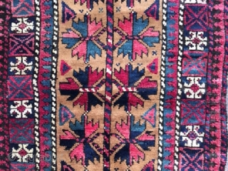 Antique or near-antique complete Baluch (Belouch, Baluchi) Balisht, all original with no repairs, excellent condition with very minor wear, soft lustrous wool and great, well saturated colors and well executed Tree of  ...
