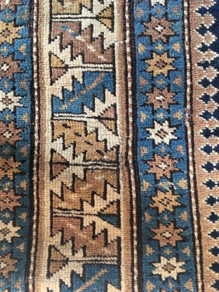 Well maintained, finely woven antique Caucasian Kuba rug, approx. 350 kpsi. Nice use of colors, well saturated.