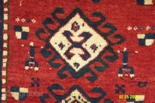 """Borchalu rug from the last quarter of the 19th century. Very good pile and condition and all natual colors. (i.e. Dimensions 4'8"""" X 7'4"""".) NOTE: Dated 1896"""