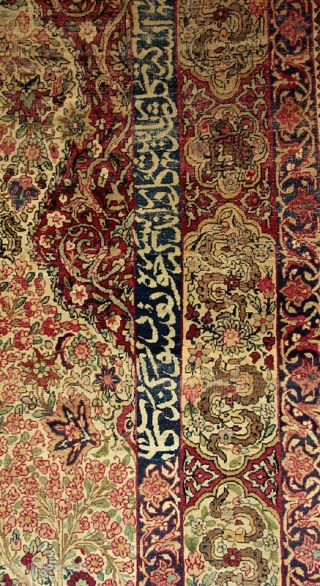 Kermanshah prayer rug from the 4th quarter of the 19th century with