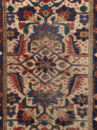 """Just living is not enough... one must have sunshine, freedom, and a little flower."" Hans Christian Andersen Baluch rug, North-east Persia, 19th century, a real mastperpiece of its kind. All organic, deeply  ..."