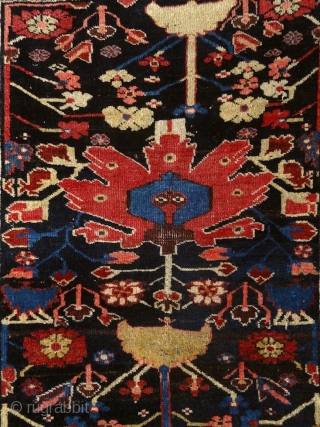"""""""Seek art and abstraction in nature by dreaming in the presence of it."""" Paul Gauguin, Kurdish rug, Persia, 19th century. A real dramatic & abstract and visionary work of art. Reminds me  ..."""