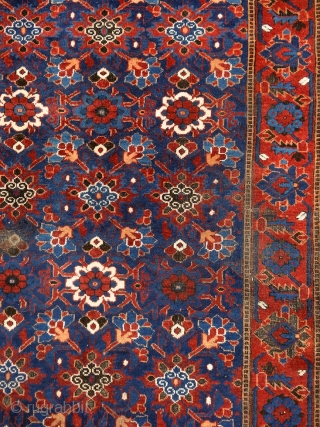 """Why should I be unhappy? Every parcel of my being is in full bloom."" Rumi, 13th century, Baluch rug, Ferdows area, North-east Persia, 19th century. Wool on cotton with goat hair side  ..."