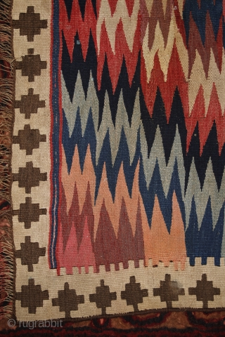 Veramin/Varamin Kilim, 237x143 beginning of 20th century.