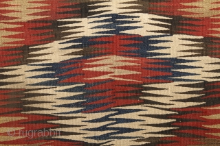 Veramin/Varamin Kilim, 110x224cm, end of the 19th century.