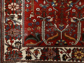 """The temple bell stops. But i still hear the sound coming out of the flowers."" Matsuo Basho Bakhtiari rug, Persia, 19th century. Most probably somewhere in Chadar Mahal area ... This is  ..."