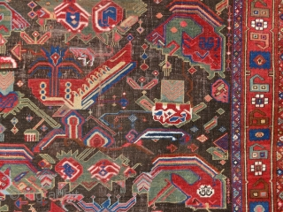 """""""The longer you look at an object, the more abstract it becomes and, ironically, the more real."""" Lucian Freud. Afshar rug, Persia, 19th century. One of the most abstract rugs, i've ever  ..."""