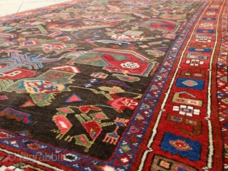 """The longer you look at an object, the more abstract it becomes and, ironically, the more real."" Lucian Freud. Afshar rug, Persia, 19th century. One of the most abstract rugs, i've ever  ..."
