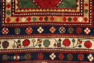 Lambalo kazak rug with 5 borders, dated in the main field *270 (1270/1854), 200x125 cm, wool on wool with more than perfect natural colors... the bests what that type can have. Every  ...