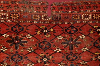 "Turkmen Beshir ""Mina-khani"" chuval, mid. 19th century, ca. 1,50 x 1 m, design, drawing, colors, spacing, material... everything on its place.... needless to say enything else.... not an everyday thing... a bunch  ..."