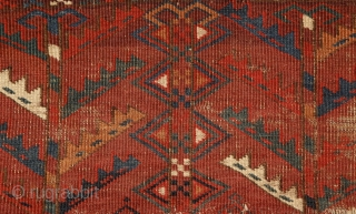 Yomud Ensi, Turkmenistan, mid 19th century, wool on wool with brilliant colors.
