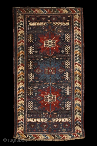"""When i have a terrible need of - shall i say the word - religion. Then i go out and paint the stars."" Vincent Van Gogh Kuba rug with unusual design, 19th  ..."