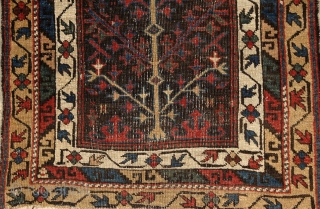 """As the wind does blow/Across the trees, I see the/Buds blooming in May"" haiku from Natsune Soseki. Avar (?) tree of life small rug, 19th century/Caucasus,more pieces here: http://www.rugrabbit.com/profile/5160"