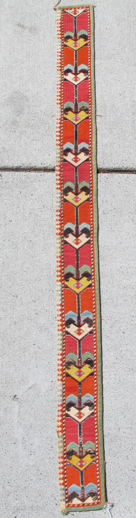 """Lakai Embroidered Band or Belt. Very well spaced with fine detailing and great color.   SIZE: 0'4""""x3' 7"""" INV# 16083"""