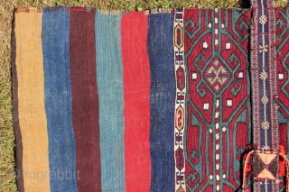 Antique kurdish Ala Cuval, Malatya, complete. Very colorful tribal item. Please ask for more information.