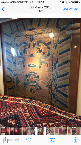 Antik China Dragon Carpet