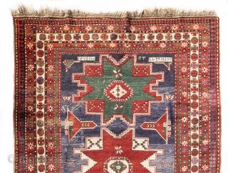 Tovuz Kazak in the classic Lesghi Star Kazak design. First half of the 20th century ... Exceptionally well kept  Size> 306x165cm
