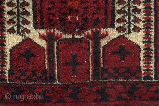 Antique Beluch Prayer rug with cruciform motifs 