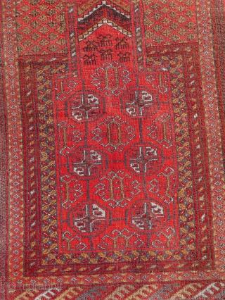 Old Ersari prayer rug c. 1940-50s  Size:  116x75 cm