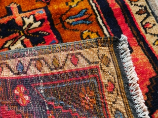 This a small Anatolian Taraspinar Mat c. 74x50cm or 29x19 inches  Fully restored Probably a maiden rug mid 1950s