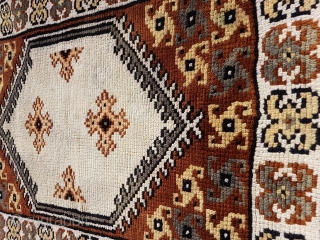 Old Caucasian bag face with spin wheel motif #size 80x60cm or 32x24 inches