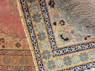Antique Tabriz mat ( poshti ) in fine knot  Size 75x60cm or 30x24 inches