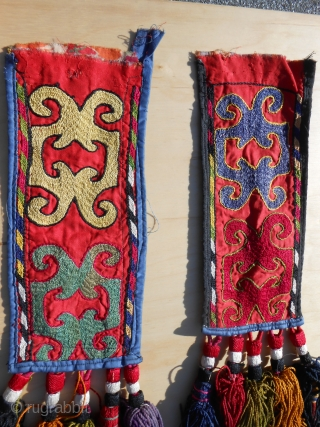 Pair of Kirghizistan igsalik (spoon bag).