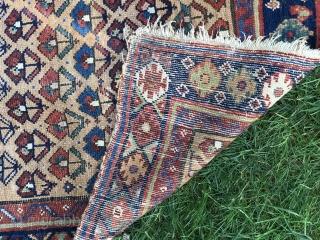 Kurdish runner 3' x 13' could use a good wash, some old moth damage bottom left corner