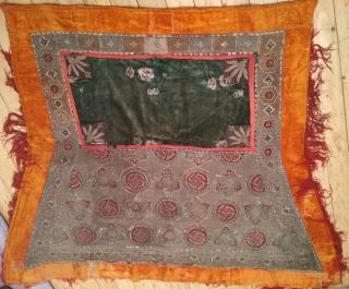 horsecloth,goldwork embroidery, 19th century, Bukhara, Uzbekistan