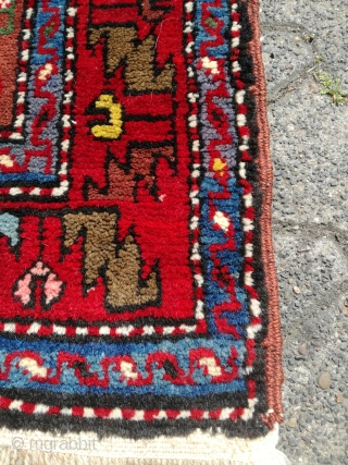 An old Lampa Karabagh on wool rug in perfect condition. 224/136 cm.
