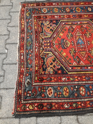 An antique Karaje runner with 450/115 cm. All natural dyes. Very good shape.