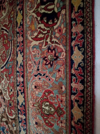 An antique Isfahan with 220/145 cm. 50 Raj. Good shape with smallest signs of use.