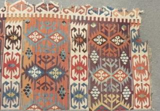 19th East Anatolian Sivas Kilim One Part Size.265x72cm