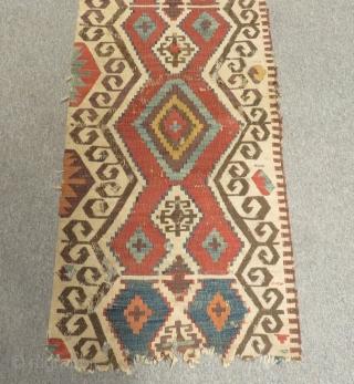 18th Century Central Anatolian Kilim Size.320x61cm