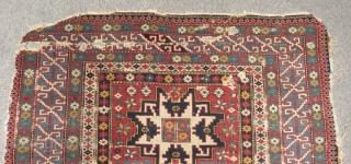Antique Caucasian Lezgi Kuba Şirvan Carpet Size.166x120cm