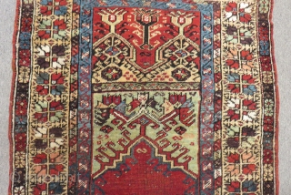19th Century Central Anatolian Konya Prayer Carpet Size.140x103cm