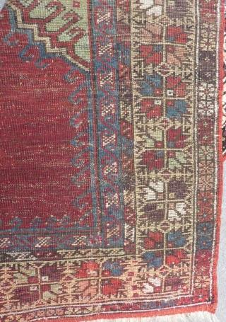 19th Century Central Anatolian Konya Prayer Carpet Size.140x103cm